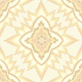 Seamless texture with floral ornament. Floral pattern seamless. Flower  motif on beige background. Elegant wallpaper Stock Images