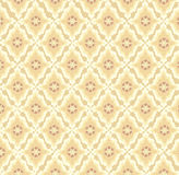 Seamless texture with floral ornament. Floral pattern seamless. Flower  motif on beige background. Elegant wallpaper Stock Photography