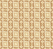 Seamless texture with floral ornament. Floral pattern seamless. Flower  motif on brown background. Elegant wallpaper Royalty Free Stock Photo