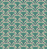 Seamless texture with floral ornament. Floral abstract pattern seamless. Fan  motif on green background. Elegant wallpaper Stock Photo