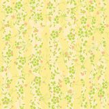 Seamless texture with a floral ornament. Yellow color Royalty Free Stock Image