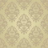 Seamless texture of floral ornament. Vector illustration. For interior design, printing, web and textile. gold color Royalty Free Stock Photo