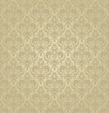 Seamless texture of floral ornament. Vector illustration. For interior design, printing, web and textile. gold color Royalty Free Stock Photos