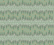 Seamless texture with floral ornamental lines. Seamless pattern with lacy floral ornament on light green background Stock Photos