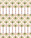 Seamless texture with floral theme Stock Photo