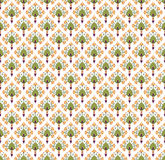 Seamless texture with floral theme. Seamless pattern with floral motif on white background Stock Photos