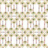 Seamless texture with floral theme. Seamless pattern with floral motif on white background Stock Photo