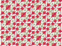 Seamless texture with floral theme. Seamless pattern with floral motif on white background Stock Photography