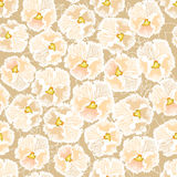 Seamless texture with floral theme Royalty Free Stock Photos