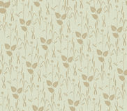 Seamless texture with floral theme Stock Image