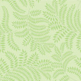 Seamless texture with floral theme. Seamless pattern with autumn leaves on light green background Royalty Free Stock Photography