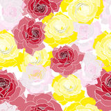 Seamless texture. Floral Vector infinite pattern Royalty Free Stock Photo