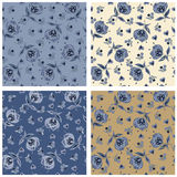 Seamless texture. Floral Vector infinite pattern Royalty Free Stock Image