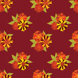 Seamless texture with flower ornament Royalty Free Stock Images