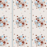 Seamless texture flowered wallpaper and strip Royalty Free Stock Photo