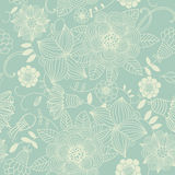 Seamless texture with flowers Royalty Free Stock Photo