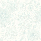 Seamless texture with flowers vector illustration