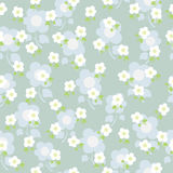 Seamless texture with flowers. Vector illustration of a seamless texture with flowers Stock Images