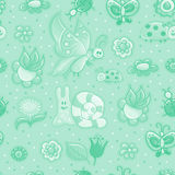 Seamless texture with flowers Royalty Free Stock Photography