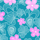 Seamless texture with flowers Stock Photography