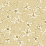 Seamless texture with flowers Stock Images