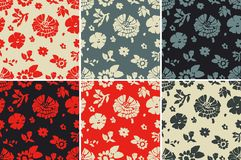 Seamless texture flowers Stock Images