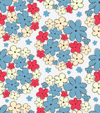 Seamless texture with flowers. Endless floral pattern. Royalty Free Stock Photos