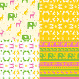 Seamless texture with flowers. Stock Photography