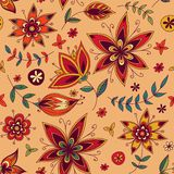 Seamless texture with flowers Royalty Free Stock Photos