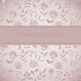 Seamless texture with flowers for scarpbooking Stock Images