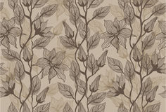 Seamless  texture with flowers in vector Royalty Free Stock Images
