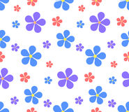 Seamless texture with flowers on a white background. Royalty Free Stock Photography