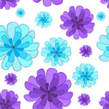 Seamless texture with flowers Stock Photo