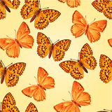 Seamless texture forest and mountain butterfly vector Stock Photography