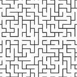 Seamless texture in the form of a labyrinth. Seamless texture of straight black lines in a labyrinth Vector Illustration