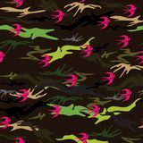 seamless texture in the form of soldier`s camouflage. royalty free stock image