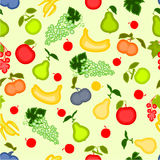 Seamless texture fruit motif vector Royalty Free Stock Photography