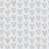 Seamless texture with funny cartoon sheep. Vector background Stock Image
