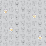 Seamless texture with funny cartoon sheep. Vector background Royalty Free Stock Photos