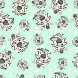 Seamless texture with funny cartoon zebra. Royalty Free Stock Photo