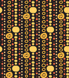 Seamless texture with garlands and beads on dark background Royalty Free Stock Photos