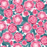 Seamless texture with gentle pink flowers Royalty Free Stock Images