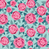 Seamless texture with gentle pink flowers Royalty Free Stock Photography