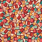 Seamless texture with geometric shapes, mosaic endless pattern Royalty Free Stock Photos