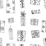 Seamless texture gift boxes Royalty Free Stock Photography
