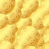 Seamless coins pattern Royalty Free Stock Photography