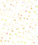 Seamless texture of gold stars on white background. Royalty Free Stock Photo