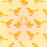 Seamless texture golden birds vector Royalty Free Stock Images