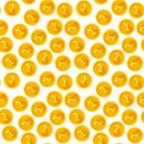 Seamless texture with golden coins Stock Photos