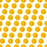 Seamless texture with golden coins Stock Image